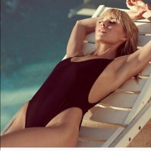 Brand new black one piece bathing suit